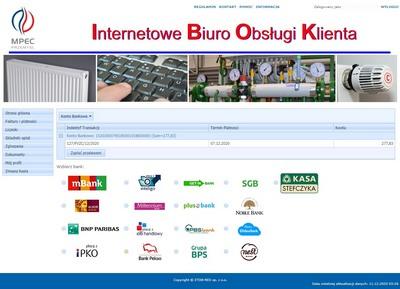 Internetowe Biuro Obsługi Klienta - Płatności online